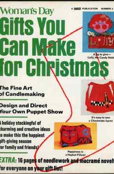 Woman's Day Gifts You Can Make For Christmas Number 2 1973 Vintage Mid Century Crafts Projects
