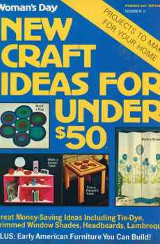 Woman's Day New Craft Ideas For Under $50 Number 2 1973 Mid Century Rugs Screens Tables