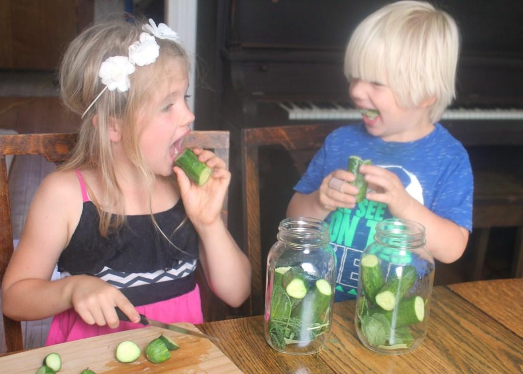 Eating pickles
