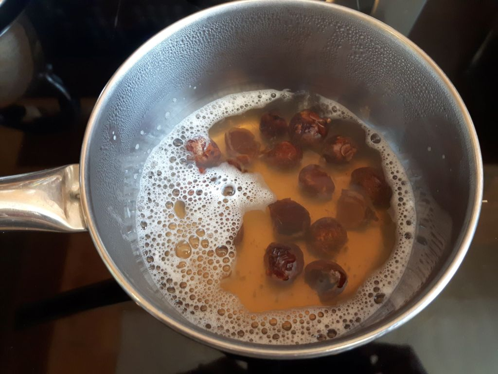 Boiling soap nuts