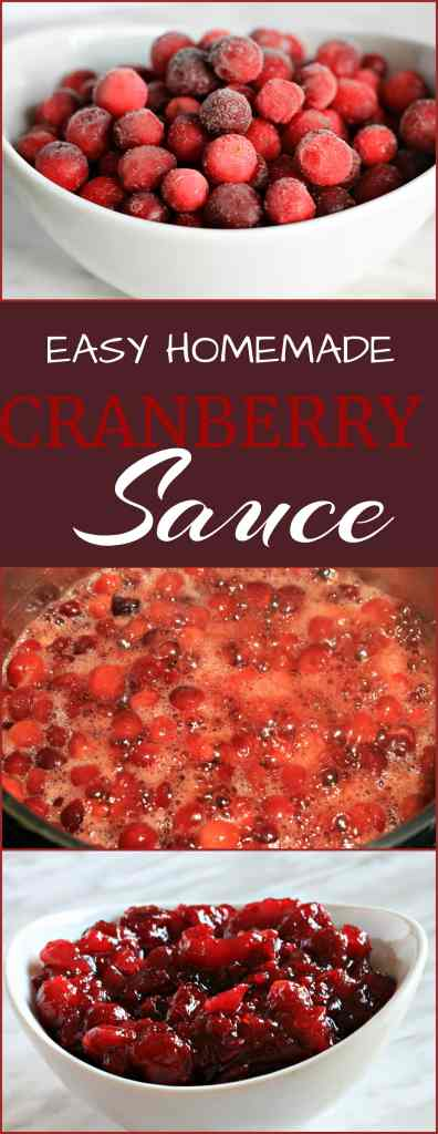 Easy Homemade Cranberry Sauce Recipe- a simple Cranberry sauce that comes together with just a few ingredients, including a special addition that everyone will surely enjoy.