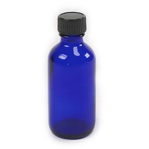 2 oz Blue Cobalt Bottle with Lid