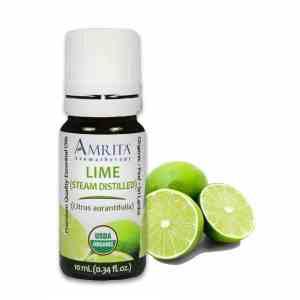 Amrita Essential Oil Lime Distilled - Organic EO-10mL at The OM Shoppe in Sarasota, FL