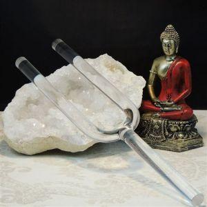 """Crystal Tuning Fork 16"""" B Crown Chakra"""