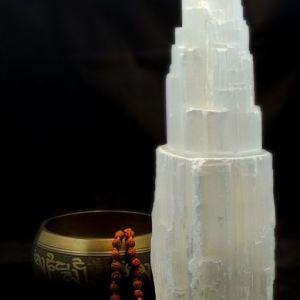 "Selenite Mountain Lamp Large 13""-14"""