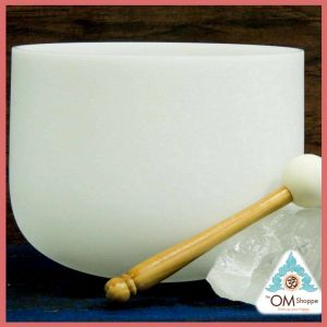CHAKRA ROOT 9 INCH CRYSTAL SINGING BOWL WITH O RING AND STRIKER FREE SHIPPING THE OM SHOPPE