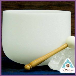 CHAKRA ZEAL NOTE G# 9 INCH CRYSTAL SINGING BOWL WITH O RING AND STRIKER FREE SHIPPING THE OM SHOPPE