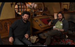 05 The Hobbit Production Video #2 - Peter and Andy at Bilbo's Desk in Bag End