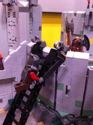 Gimli and Uruk-Hai in the Battle of Helm's Deep LEGO Set