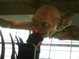 Richard Taylor at Wellington Airport, thanking the team who made Gollum