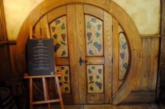 Door and menu at the Green Dragon
