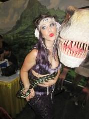 A snake charmer and a dino, SLCC 2013