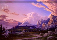In Haste to Minas Tirith. A Tolkien illustration by Ted Nasmith
