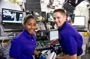 Stephanie Wilson - James Dutton at robotic workstation