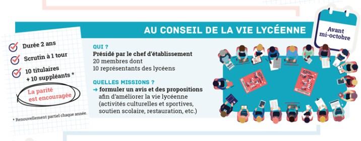 Conseil de la Vie Lycéenne Infographie ©Hélène Lafitte