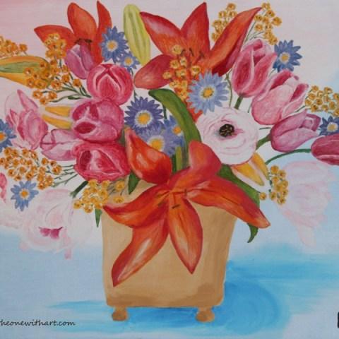 Oil Paintings - Floral Art