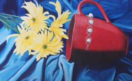Red Cup Oil Painting