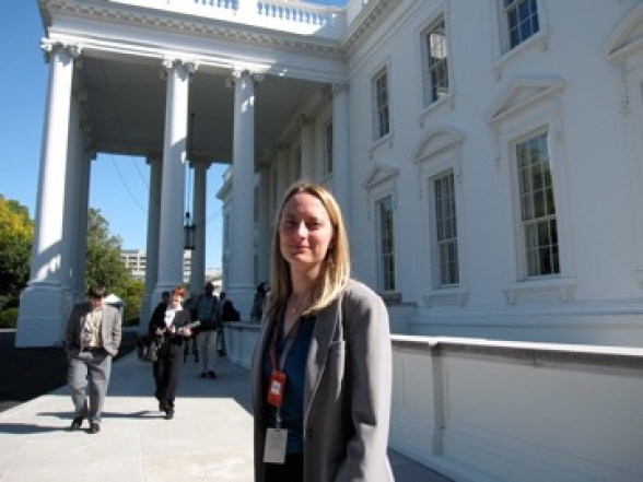 I used to run Nature's Washington DC bureau. Here at the White House before a press conference.