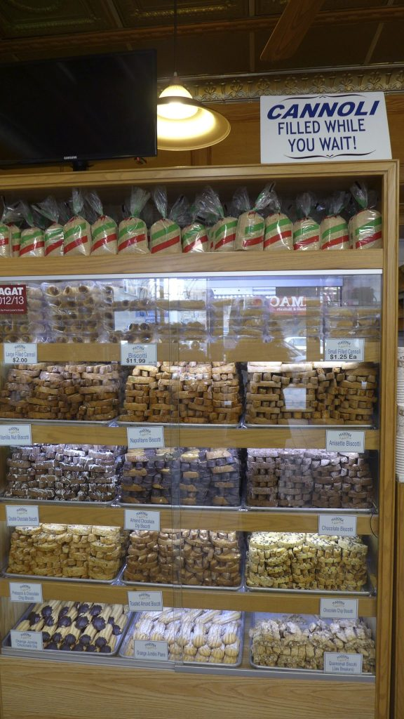 Madonia Bakery's Wall of Biscotti on Arthur Avenue in the Bronx
