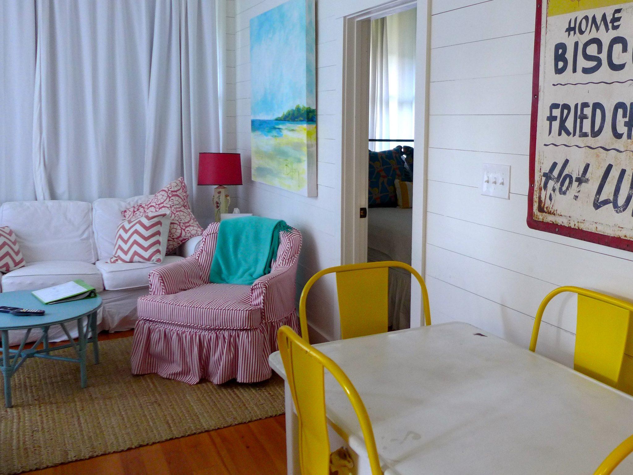 Jane Coslick living room Tybee