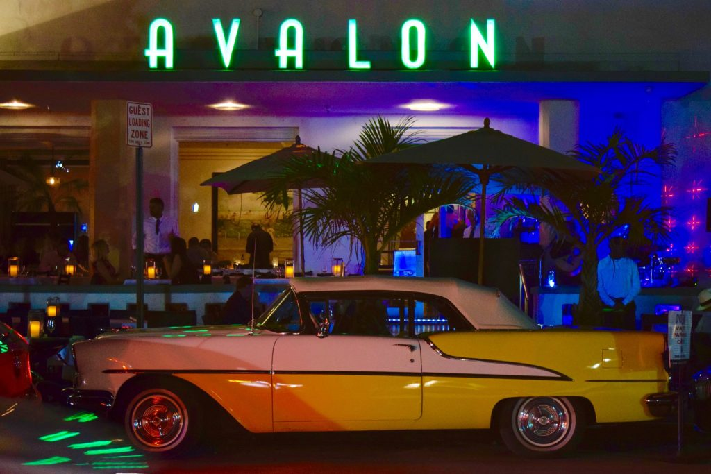 classic car in south beach miami