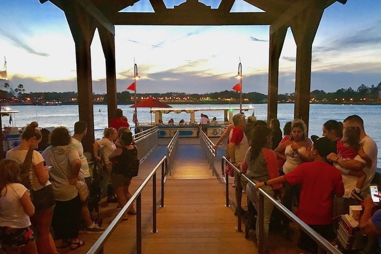 What to see at Disney Springs is a water taxi, an unusual form of transportation