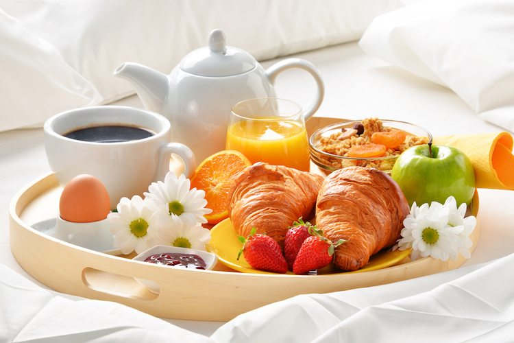 breakfast tray for breakfast in bed for Mother's Day