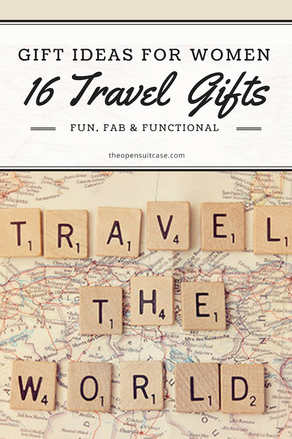 Know a woman who loves to travel? Need to buy her a gift? Here are our favorite travel gifts for women! #giftgiving #holidays #birthdaypresents