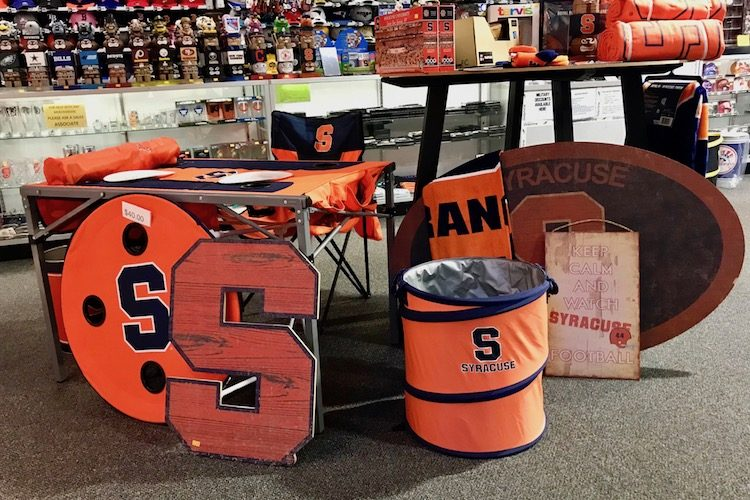 Shop for Syracuse University fan gear, one of many fun things to do at Destiny USA