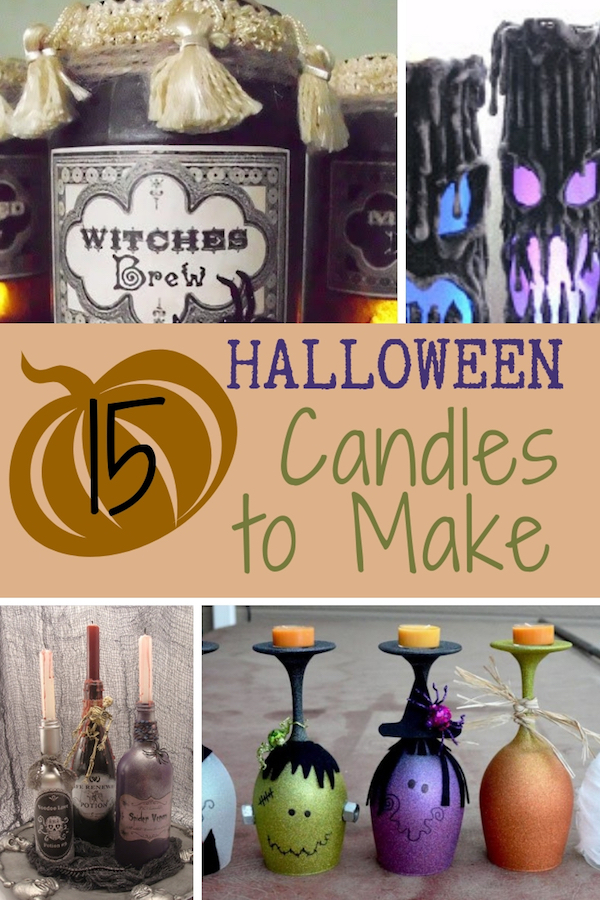 Turn your home into a spook-tacular haunted house. Make one or more of these Halloween candles. Some are easy, some are creepy, but they're all fun to craft! #halloweencrafts #diycandles #holidaydecorating