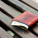 wallet on bench