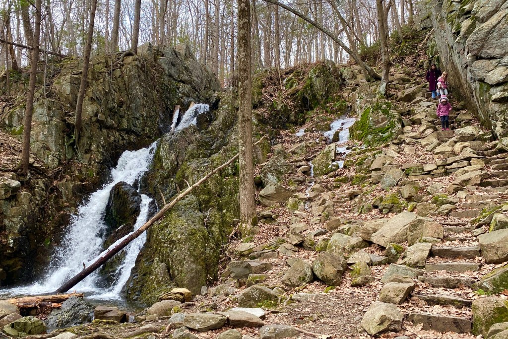 The hike to Fitzgerald Falls is an easy one for NYC visitors and rewarding in winter when the water's flowing.