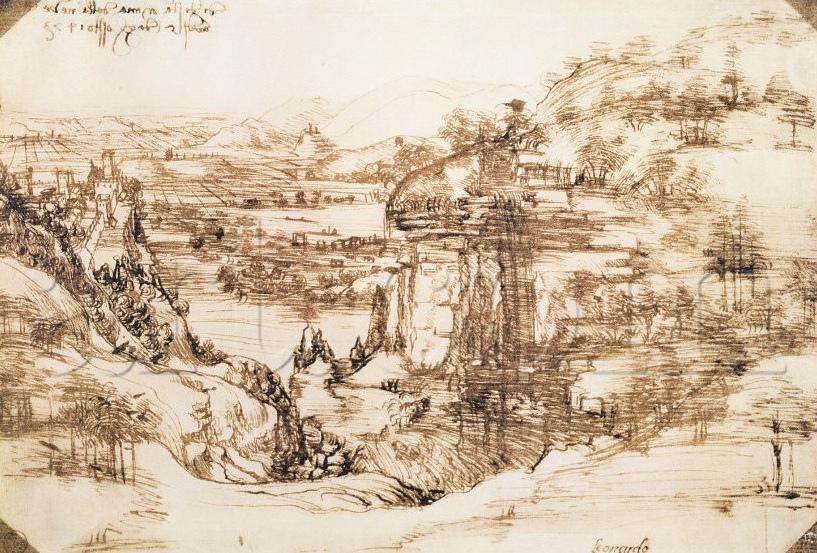 da Vinci first sketch