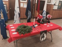 A second table which contained tokens and tributes left by VFW Officers and distinguished guests.