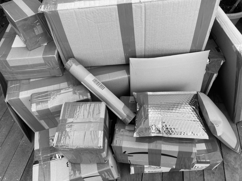decluttering selling delilvery parcel boxes clutter collections