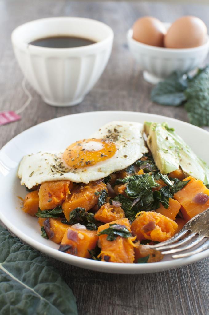 Butternut and Kale Breakfast Bowl