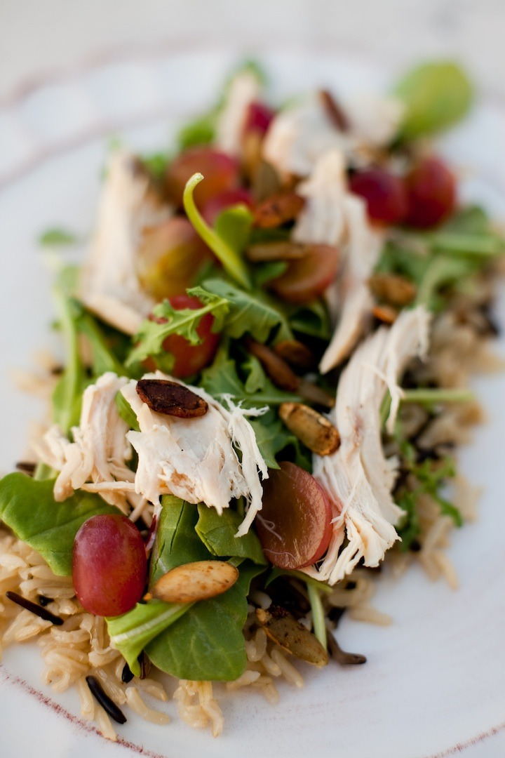 Wild Rice and Arugula Salad with Pear Chardonnay Vinaigrette