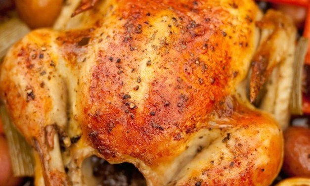 """Roasted Apricot Chicken with Herbs de Provence"" ~ An Organic Kitchen Favorite"