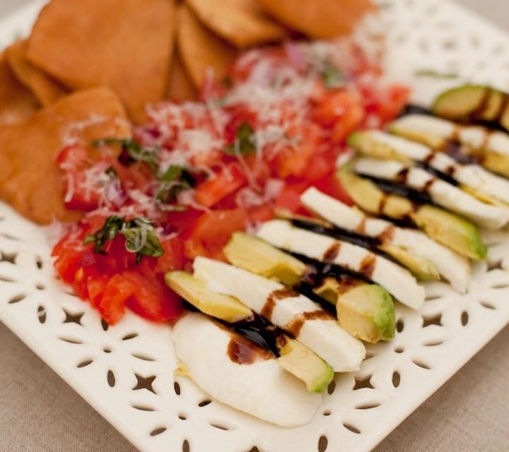 Caprese Salad with Avocados and Italian Salsa