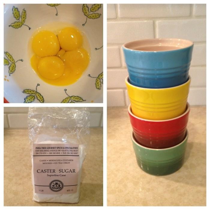 Ingredients for Lemon Vanilla Creme Brûlée