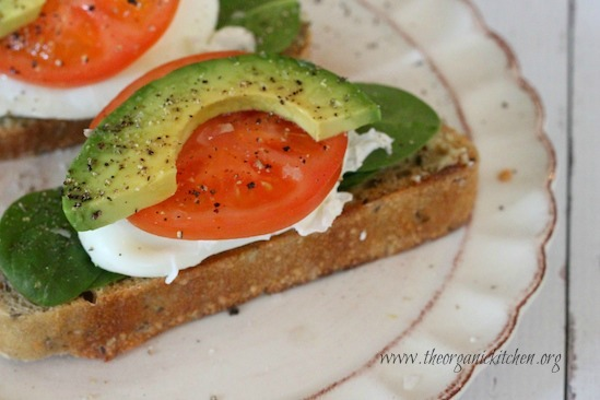 Poached Eggs with Veggies on Toast