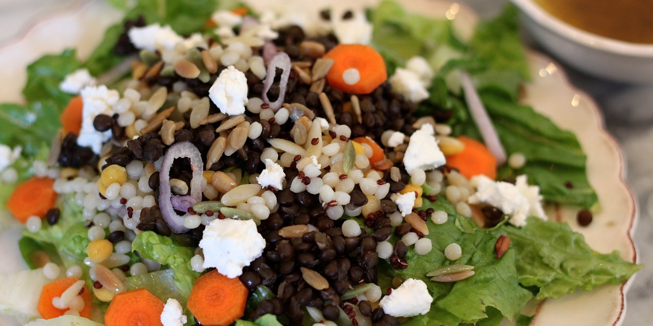 Chopped Salad with Lentils and Honey Champagne Vinaigrette