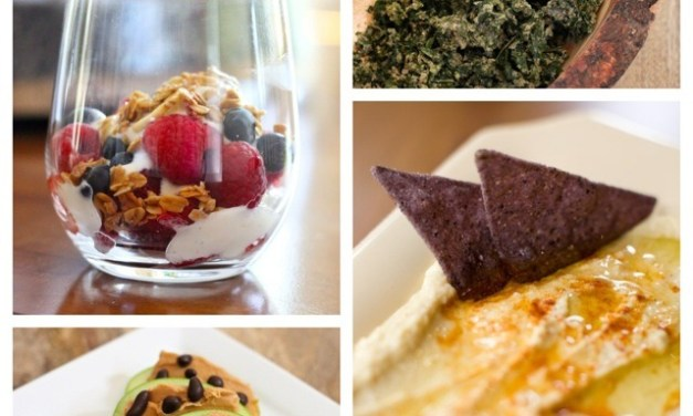 Four of my Favorite Healthy Afternoon Snacks!