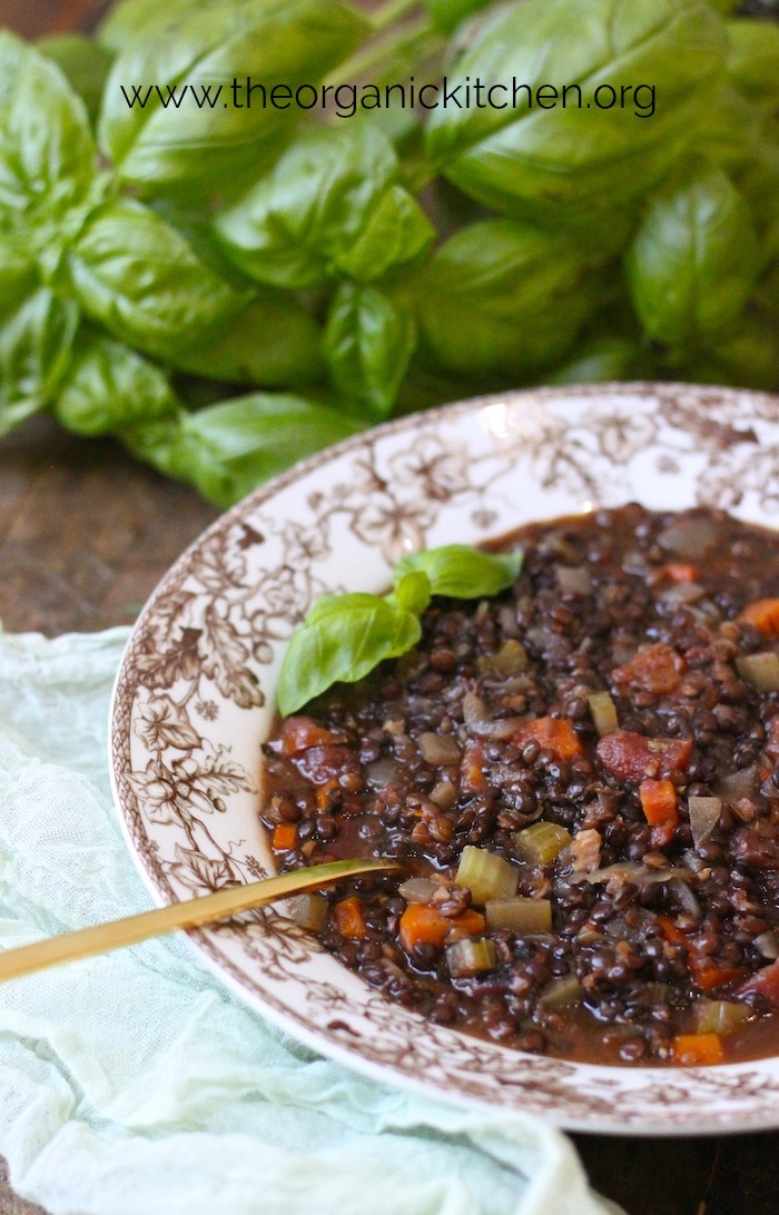 Hearty Lentil Soup! #lentilsoup #frenchlentilsoup #vegan #vegetarian #glutenfree
