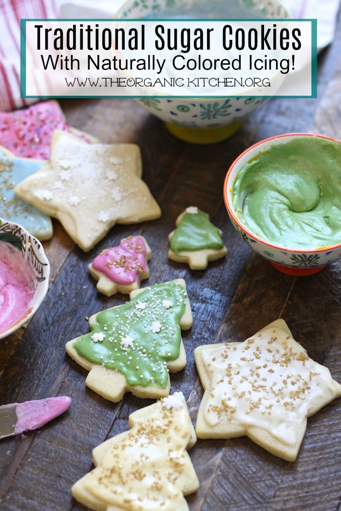 Traditional Rolled Sugar Cookies with a New Twist on a wooden cutting board