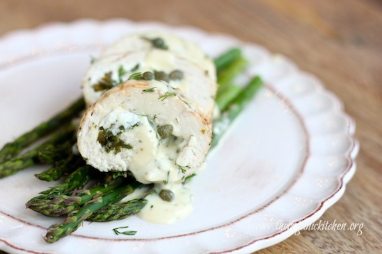 A Romantic Valentine Menu for Two ~ Stuffed Chicken Breast and Raspberry Tartlets