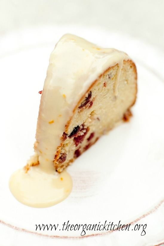 Orange Cranberry Cake form The Organic Kitchen