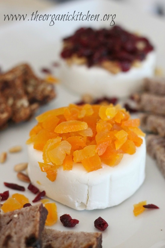 Easy Goat Cheese Appetizer ~ Apricots