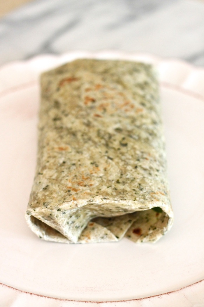 Five minute lunch wrap from The Organic Kitchen