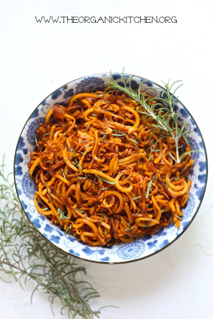 Crispy Sweet Potato 'Fries' with Rosemary and Sea Salt #paleo #whole30 #sweetpotatofries #vegan #vegetarian